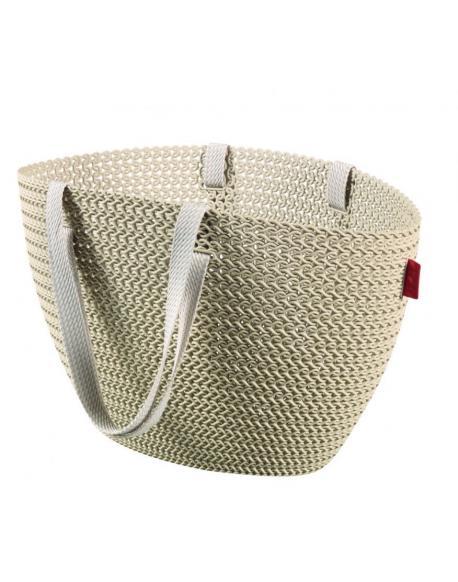 Taška nákupní , pikniková bag ,imitace háčkování - krémová CURVER