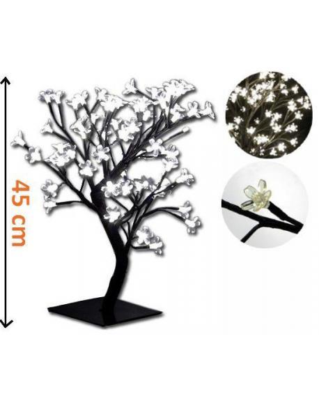Dekorativní LED osvětlení - strom s květy, studeně bílé