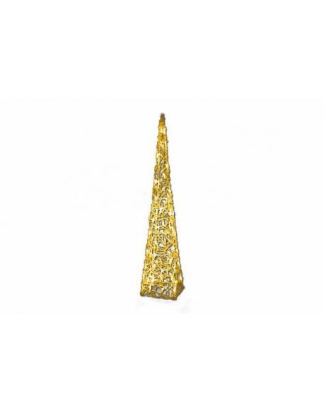 Vánoční dekorace - Akrylový kužel - 90 cm, teple bílé + trafo