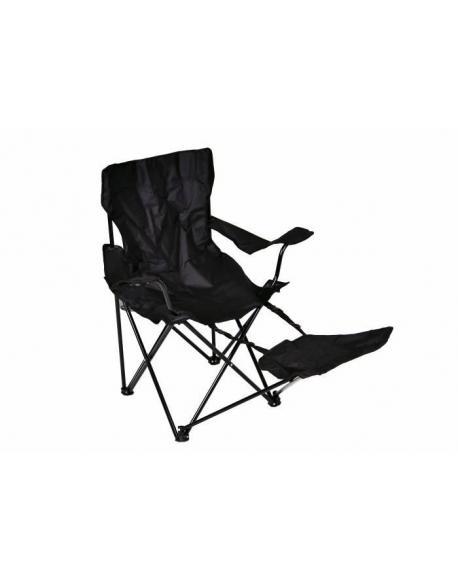 Skládací židle Garth s područkami a opěrkou na nohy