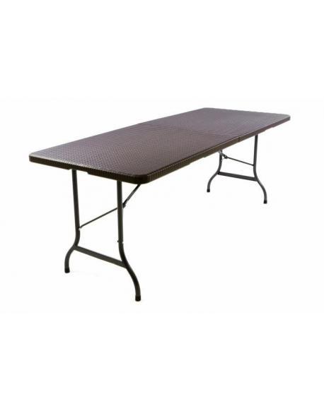 Zahradní skládací stůl v ratanovém vzhledu- 180 x 75 cm