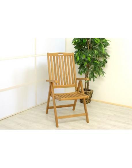 Skládací židle Garth z týkového dřeva