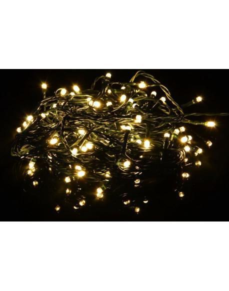 Vánoční světelný LED řetěz - teple bílá - 80 LED 8 m