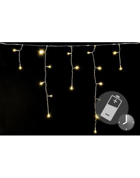 Vánoční světelný déšť 144 LED teple bílá - 5 m s časovačem