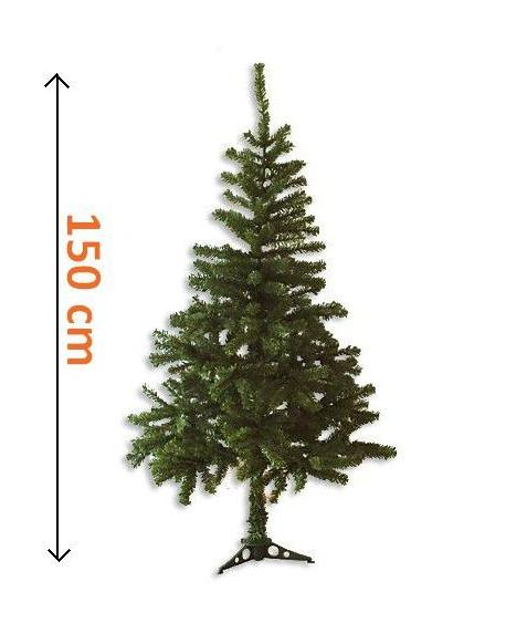 Umělý vánoční strom - tmavě zelený, 1,5 m
