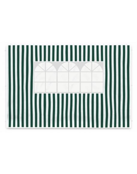 Sada dvou bočních stěn pro zahradní stan - bílá/zelená
