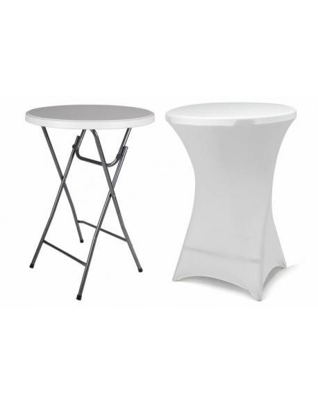 Párty stolek BISTRO skládací vč. elastického potahu 80 x 80 x 110 cm