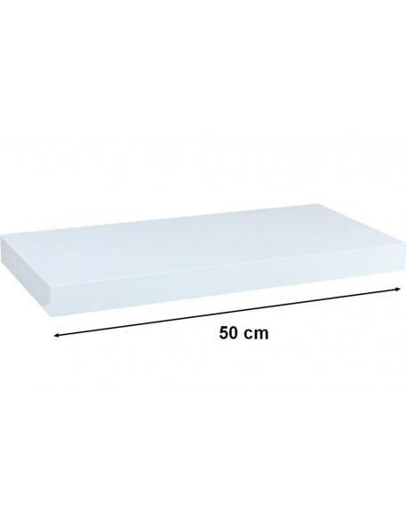 Nástěnná police STILISTA VOLATO - lesklá bílá 50 cm