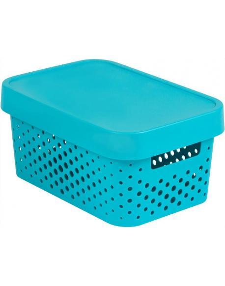 Úložný box INFINITY DOTS 4,5L - modrý