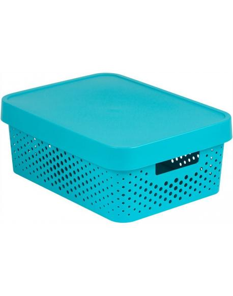 Úložný box INFINITY DOTS 11L - modrý