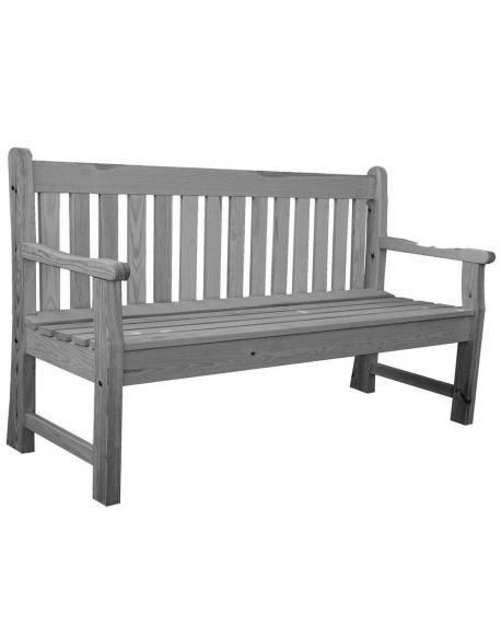Zahradní lavice LONDON šedá - 150 cm