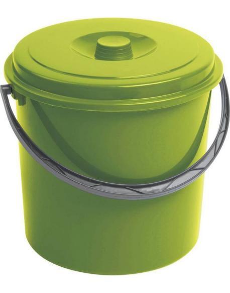 Kbelík s víkem CURVER 16L - zelený