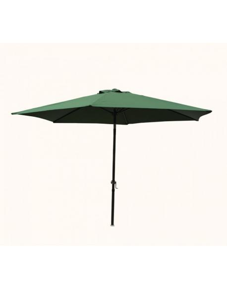Slunečník 300 cm - zelená naklápěcí