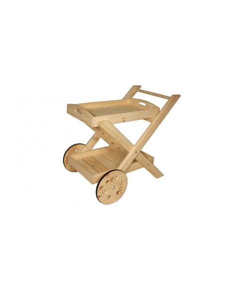 Skládací servírovací vozík - bez povrchové úpravy