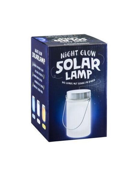 solární lampa v optice zavařovací sklenice