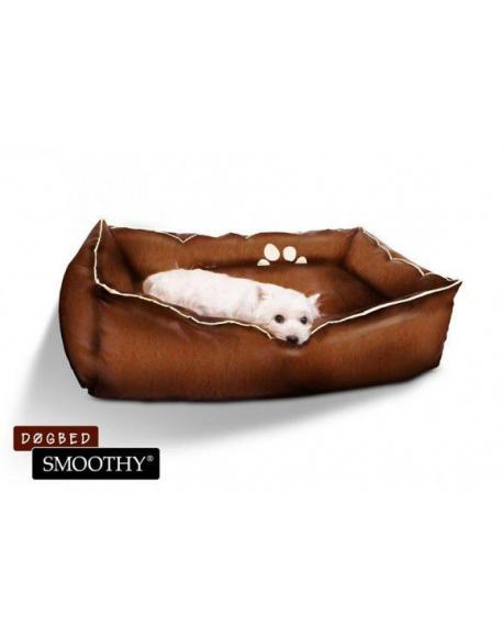 hnědý pelíšek z umělé kůže pro psy - velikost S