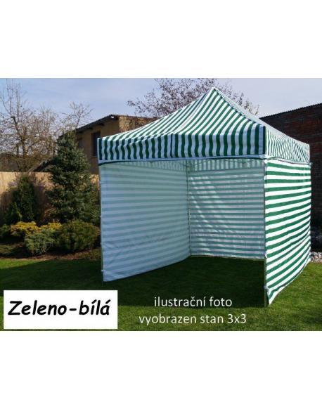 Zahradní párty stan PROFI STEEL 3 x 6 - zeleno-bílá