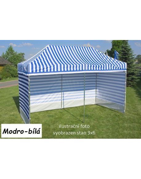 Zahradní párty stan PROFI STEEL 3 x 6 - modro-bílá