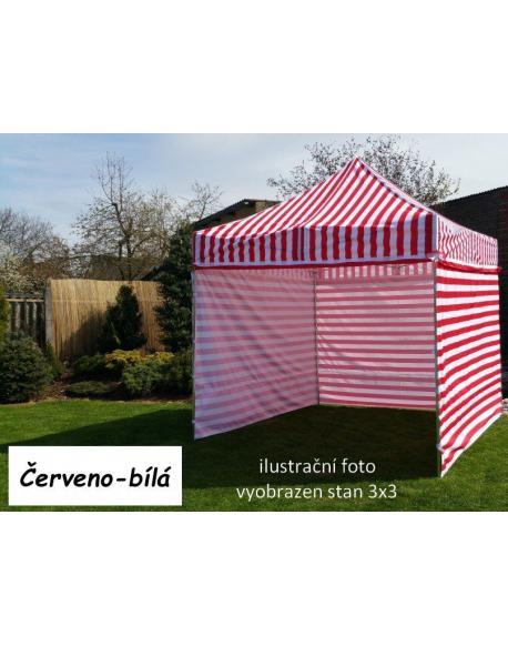 Zahradní párty stan PROFI STEEL 3 x 6 - červeno-bílá