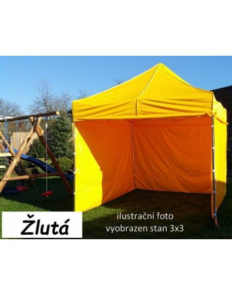 Zahradní párty stan PROFI STEEL 3 x 4,5 - žlutá
