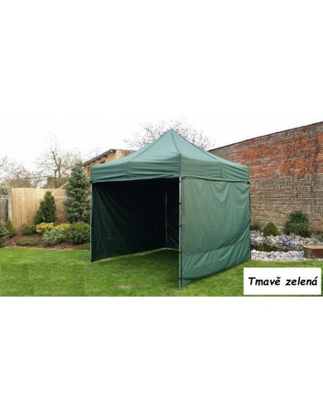 Zahradní párty stan PROFI STEEL 3 x 3 - tmavě zelená
