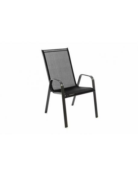Stohovatelná židle balkonová - černá