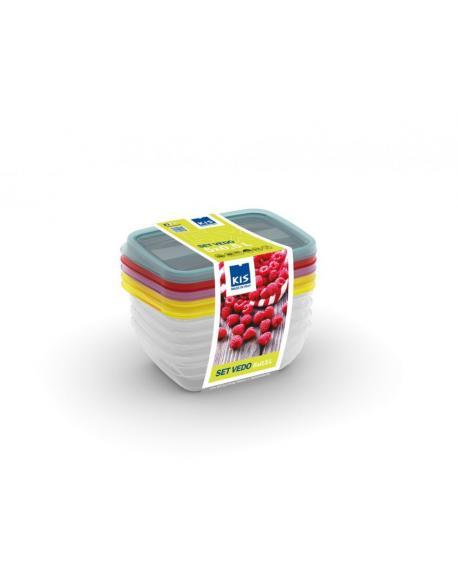 Set potravinových dóz VEDO - 5x0,50L