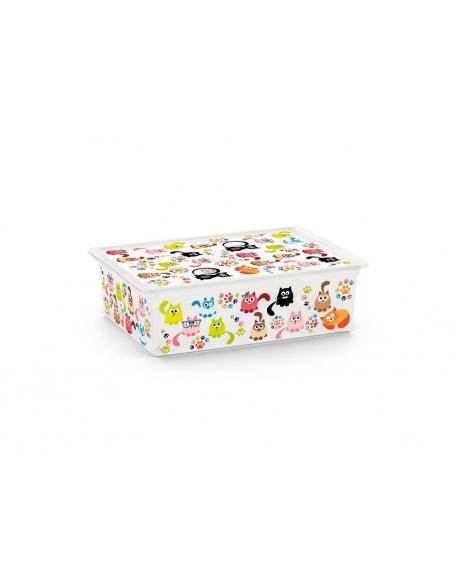 Plastový úložný KIS C box ANIMAL -L - kočky