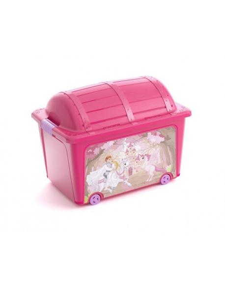 Plastový box KIS - truhla růžová