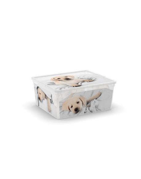 Plastový box KIS Puppy and Kitten - M