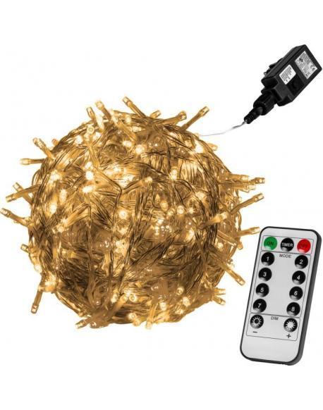 Vánoční LED osvětlení 5 m - teple bílá 50 LED + ovladač