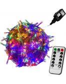 Vánoční LED osvětlení 10 m - barevná 100 LED + ovladač