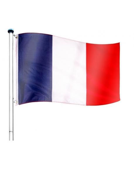 Vlajkový stožár vč. vlajky Francie - 6,50 m