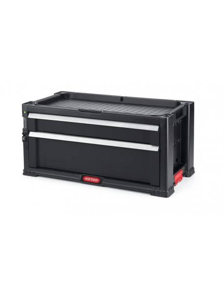 KETER skříňka na nářadí - 2 zásuvky / BLACK