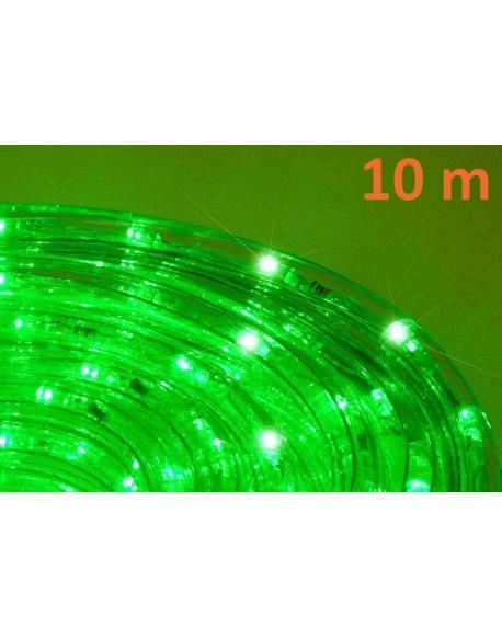LED světelný kabel 10 m - zelená, 240 diod