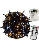 Vánoční osvětlení 5 m - teple/studeně bílá 50 LED na BATERIE