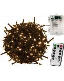 Vánoční osvětlení 5 m - teple bílá 50 LED na BATERIE ovladač