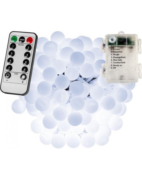 Párty LED osvětlení 10 m - studená bílá 100 diod - BATERIE