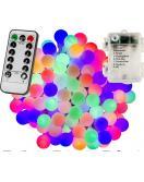 Párty LED osvětlení 5 m - barevné 50 diod - BATERIE