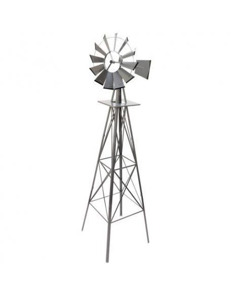 Větrný mlýn stříbřitě šedá - 245 cm