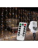 Vánoční světelný závěs - 6 x 3 m, 600 LED, teplá / studená