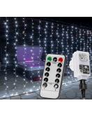Vánoční světelný závěs - 6 x 3 m, 600 LED, studená bílá