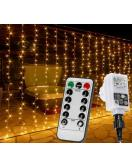 VOLTRONIC® 600 LED světelný závěs 6x3 m, teplá bílá, dálkové