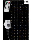 Vánoční světelný závěs - 3x6 m, 600 LED, teple /studeně bílý