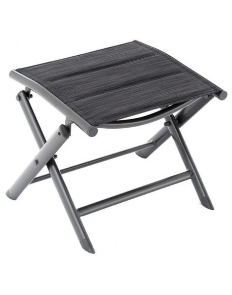 Sklopná hliníková stolička, tmavě šedá