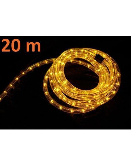 Světelný kabel 20 m - žlutá, 720 minižárovek