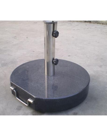 Stojan na slunečník - mramor / nerezová ocel