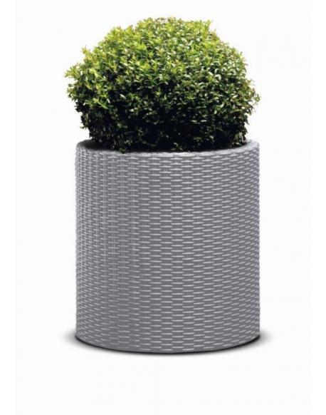 KETER Květináč Cylinder L - stříbrnošedá