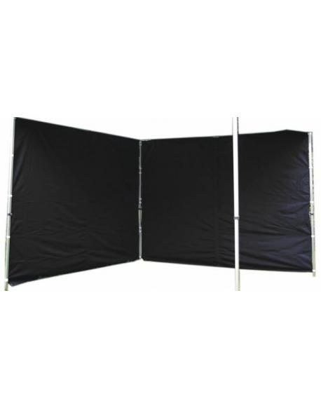 Sada 2 bočních stěn pro PROFI zahradní stan 3 x 3 m - černá