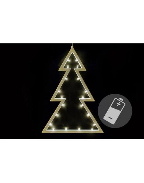 Vánoční dekorace - stromek - teple bílá, 20 LED, 29,5 cm